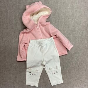 Old Navy Two-Piece Pink Cat Outfit
